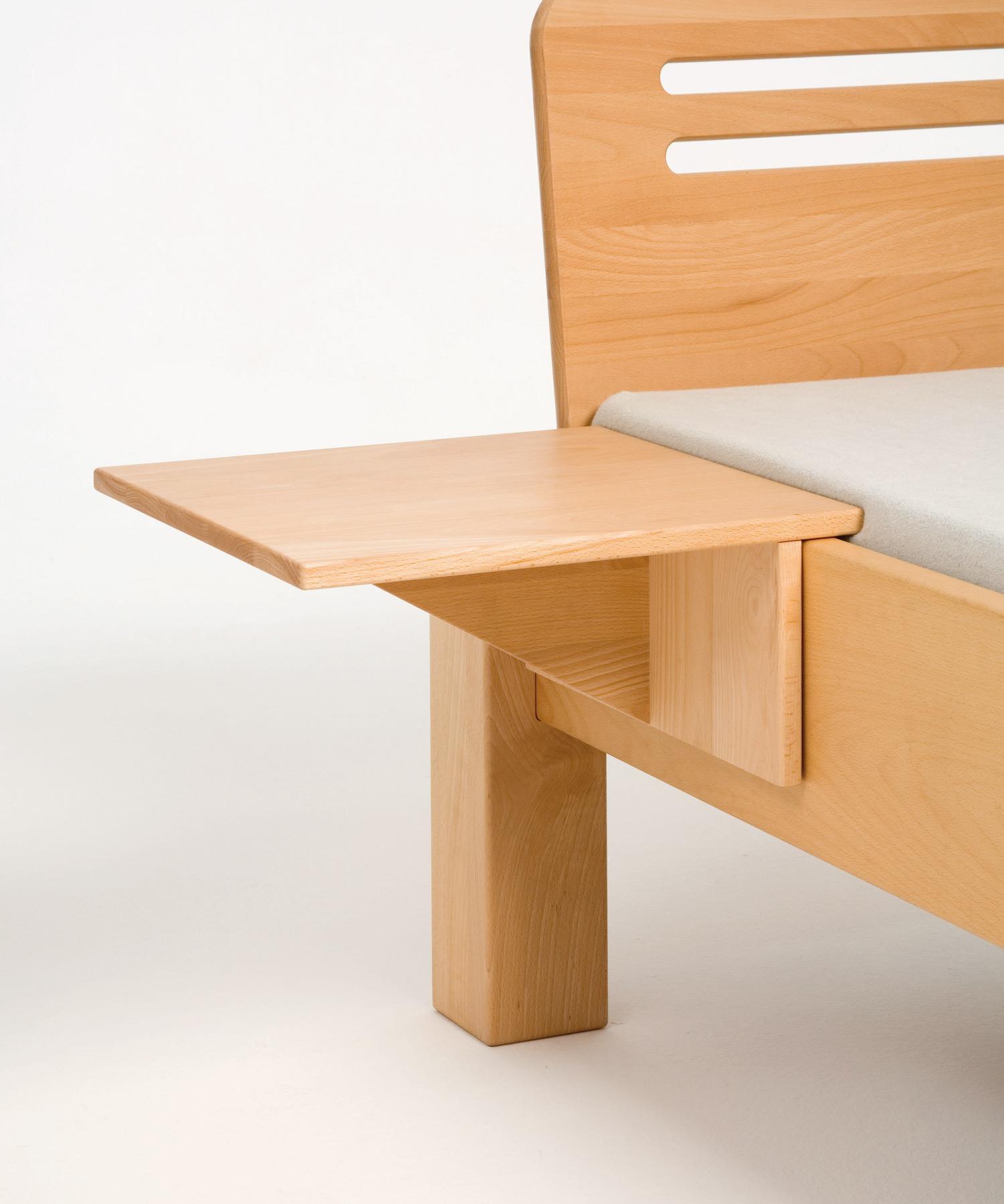 nachttisch zum anstecken adriano aus naturholz metallfrei gebaut purenature. Black Bedroom Furniture Sets. Home Design Ideas