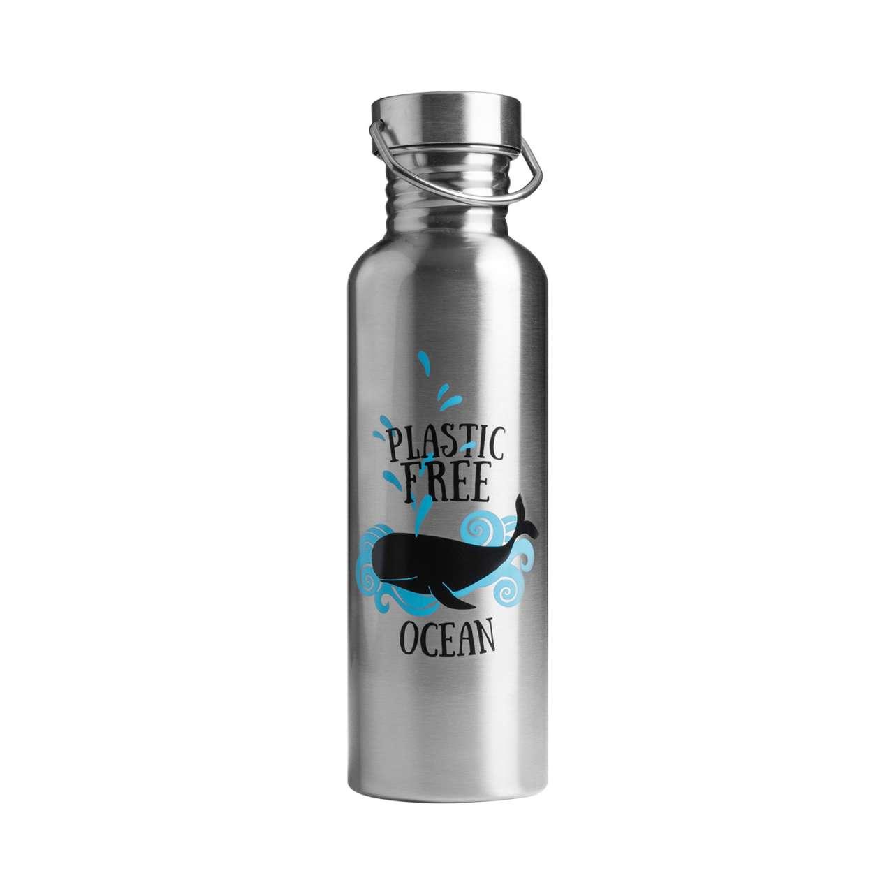 Edelstahl Wasserflasche & Trinkflasche zum Mitnehmen - plastikfrei