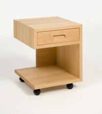 naturholz nachttisch lyon aus buche mit rollen schublade purenature. Black Bedroom Furniture Sets. Home Design Ideas