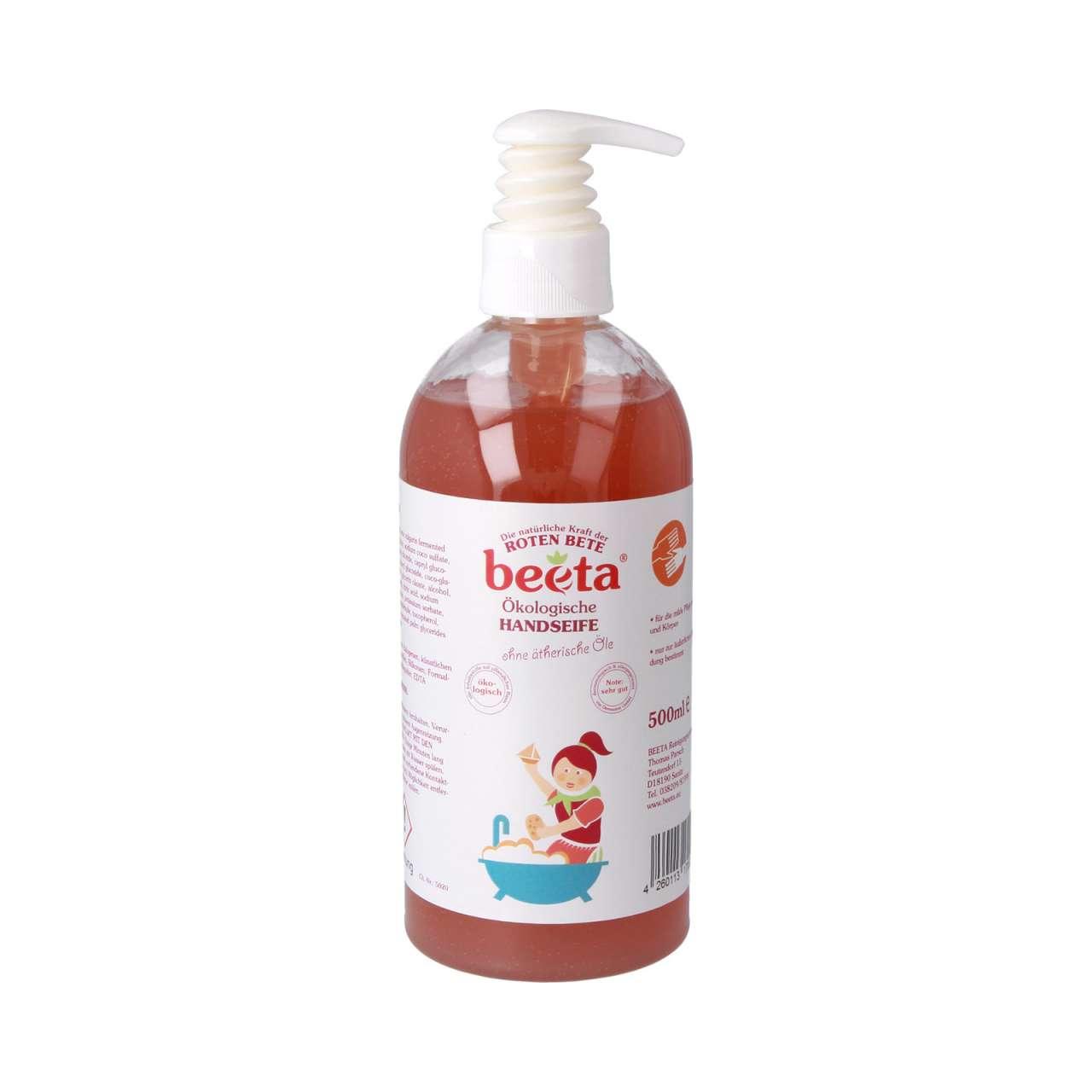 Beeta Handseife ohne Duftstoffe, biologisch abbaubare Seife