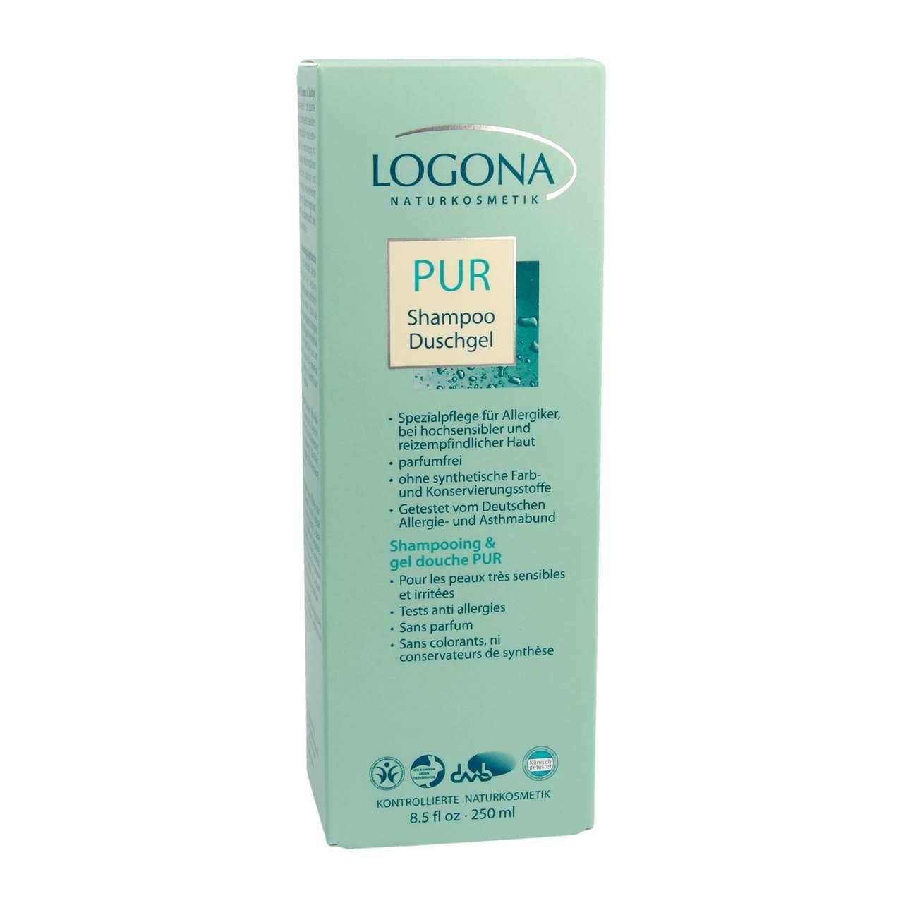 Logona Pur Shampoo & Duschgel ohne Duftstoffe für Allergiker
