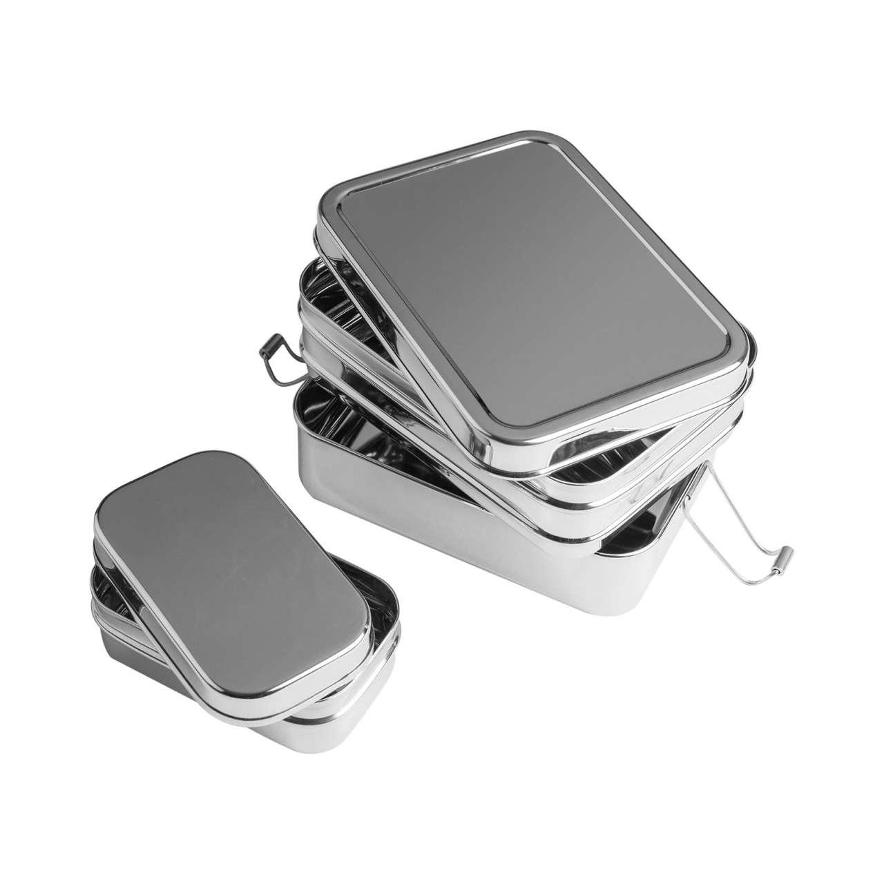 Brotzeit Lunchbox 3 Fächer - aus Edelstahl ohne Plastik