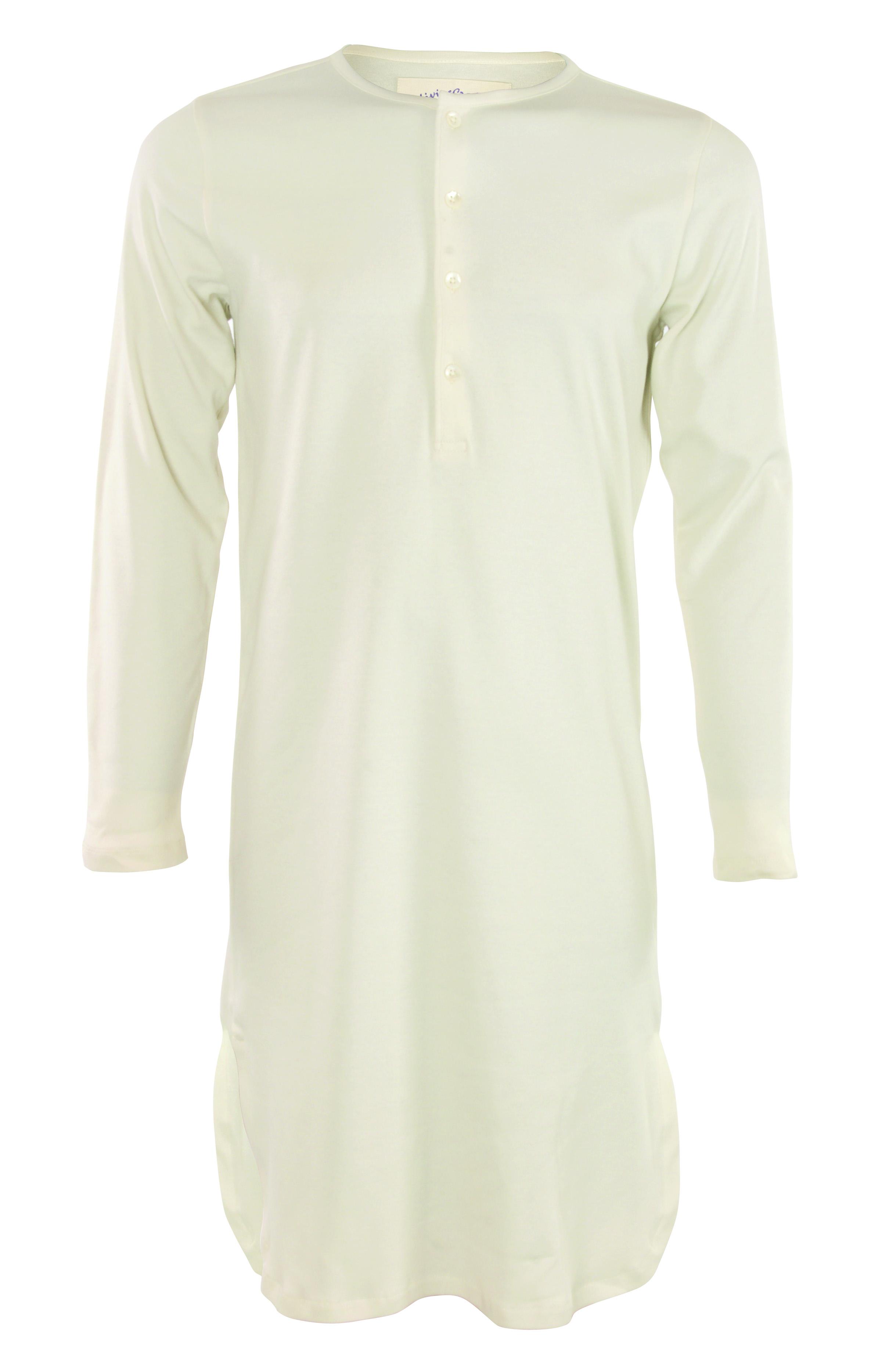 nachthemd langarm mit knopfleiste weiche bio baumwolle. Black Bedroom Furniture Sets. Home Design Ideas