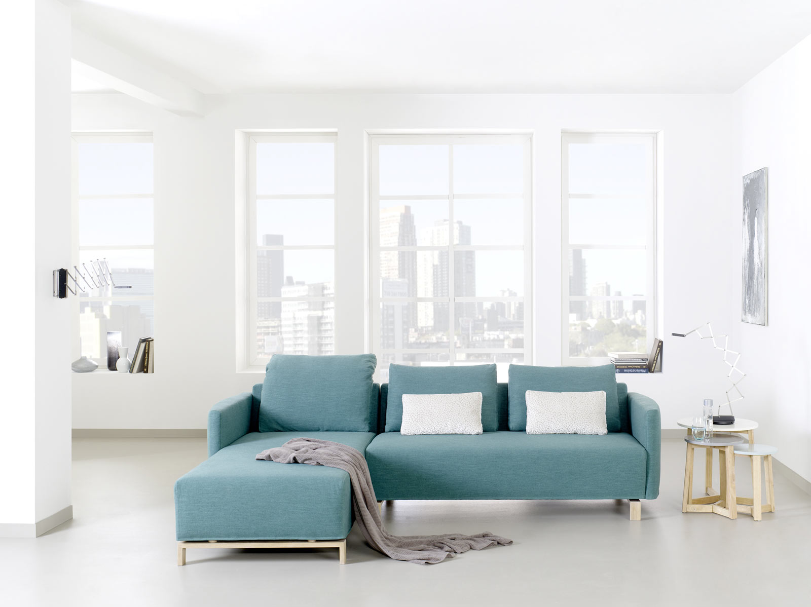 Modernes Sofa mit Recamiere - 2,5 Sitzer, schadstoffgeprüft - PureNature