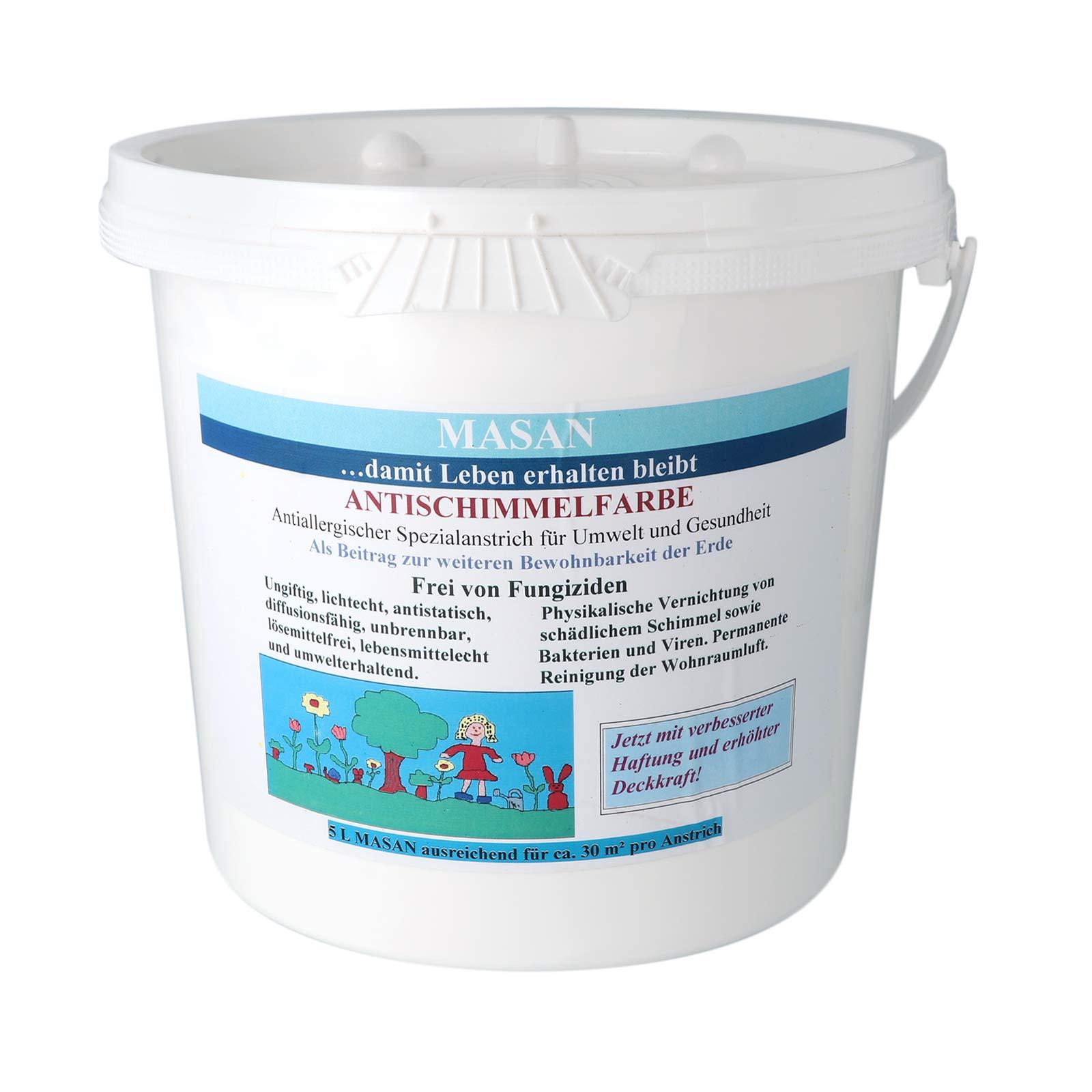 Antischimmelfarbe 5 L Weiß Masan Farbe Gegen Schimmel Purenature