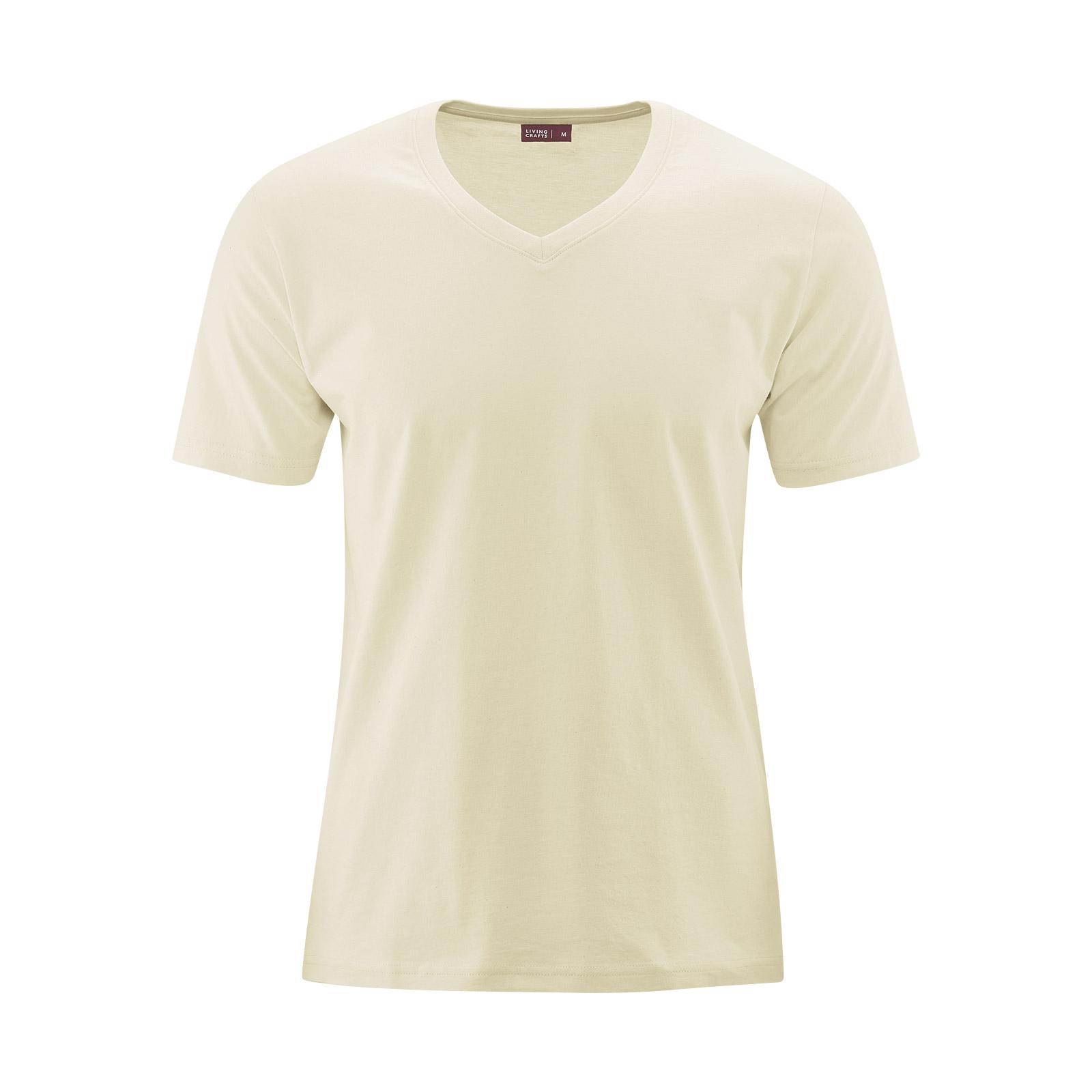 Living Crafts Herren T-Shirt mit V-Ausschnitt - zertifizierte Bio Baumwolle  - PureNature 07e070ffb9