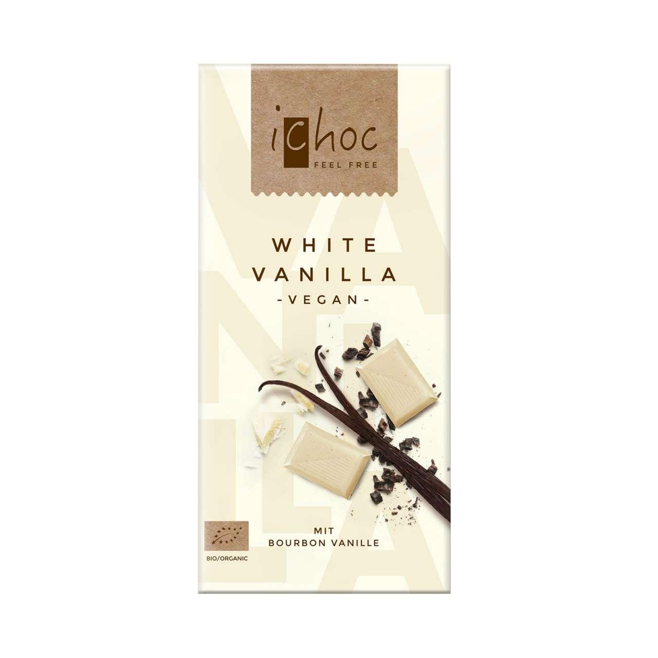 Angebotsbild für Weiße Schokolade vegan - iChoc White Vanilla - geniessen von PureNature