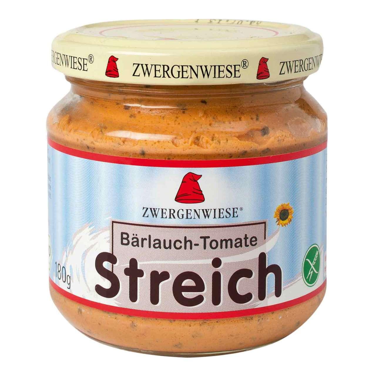 Angebotsbild für Zwergenwiese pflanzlicher Brotaufstrich Bärlauch Tomate mit Zwiebeln von PureNature