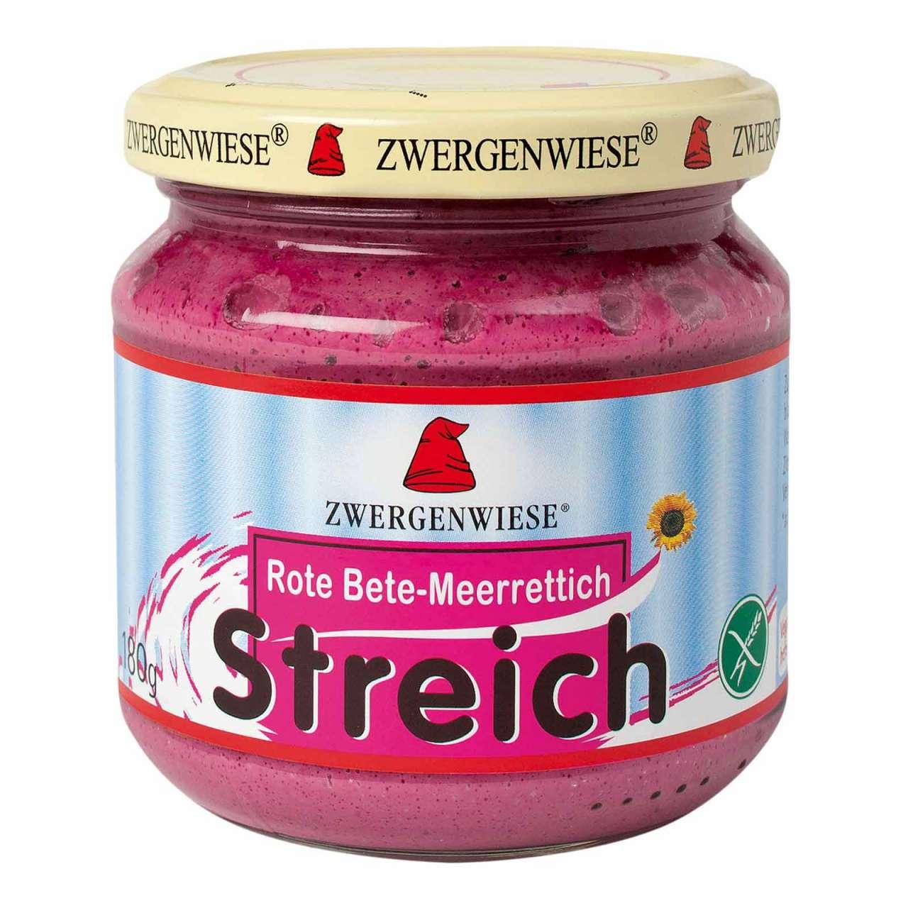 Angebotsbild für Zwergenwiese Bio-Brotaufstrich Meerrettich-Rote Bete ohne Gluten von PureNature