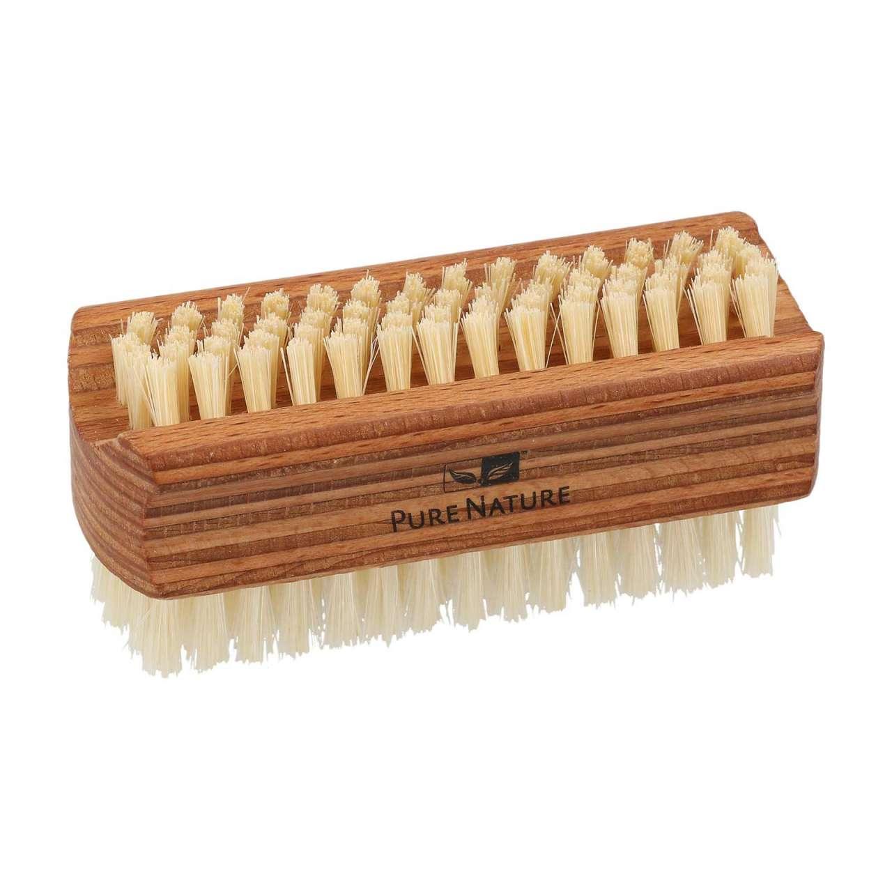 PureNature Nagelbürste Holz mit reinen Naturborsten