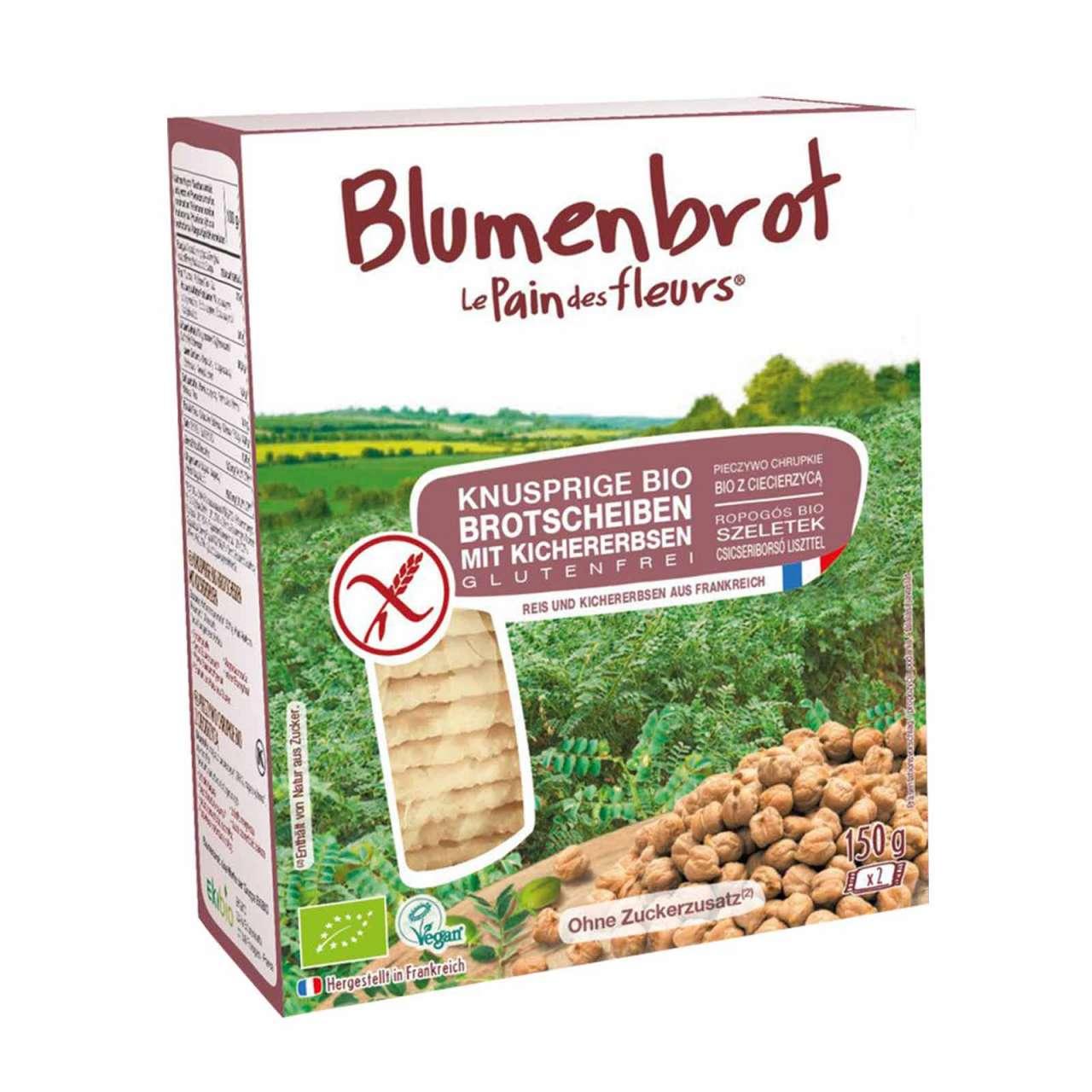 Angebotsbild für Blumenbrot mit Kichererbsen - ein leckeres Knäckebrot ohne Weizen von PureNature