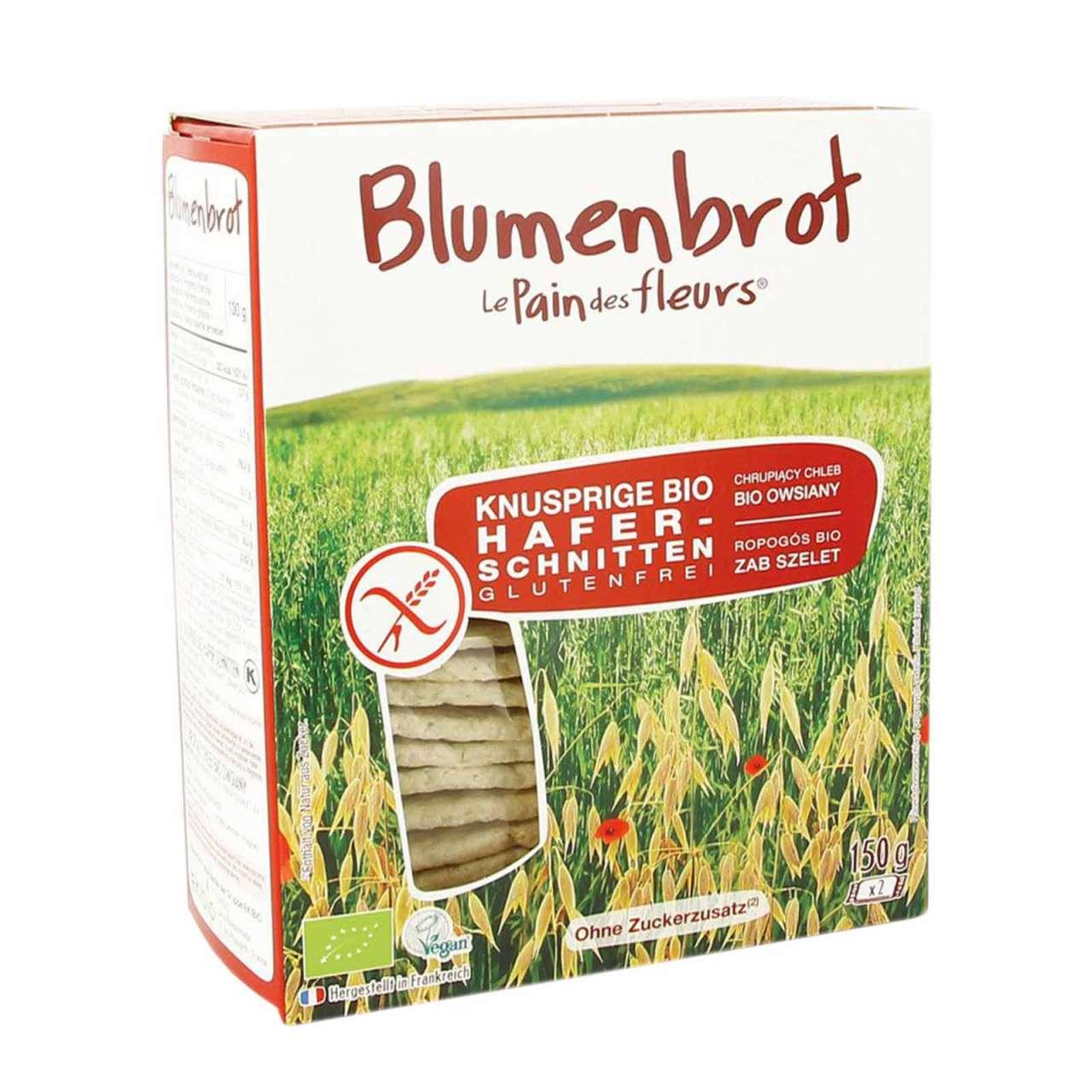 Angebotsbild für Blumenbrot Hafer glutenfrei - veganes Knäckebrot ohne Weizen von PureNature