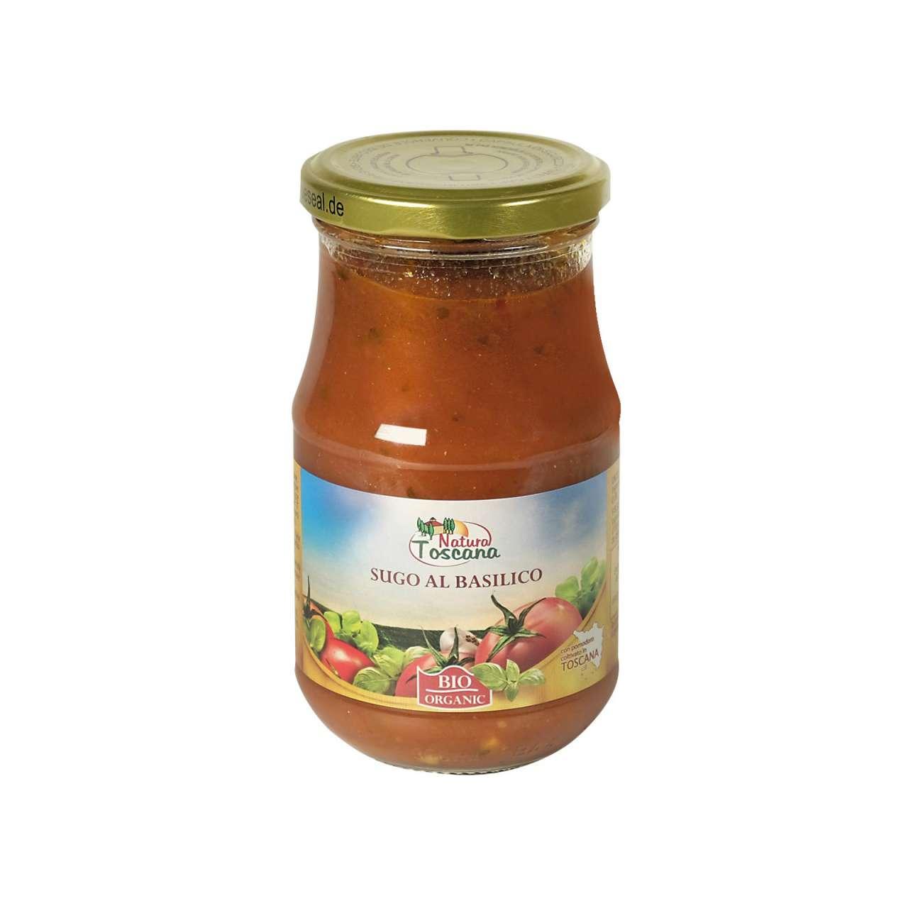 Bild für Bio Tomatensauce Basilikum für köstliche Pasta oder Pizza
