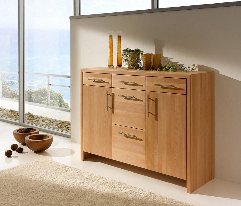 marina holz kommode unbehandelt aus massivem buchenholz gefertigt purenature. Black Bedroom Furniture Sets. Home Design Ideas